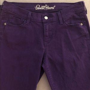 """Old Navy Purple """"Sweetheart"""" Skinny Pants"""